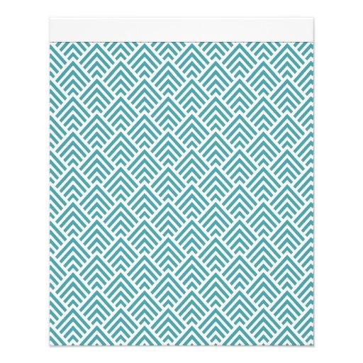 Teal Aqua Chevron Chic Geometric Pattern Elegant Flyers ...