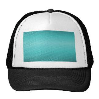 Teal aqua paper business shiny border mesh hat
