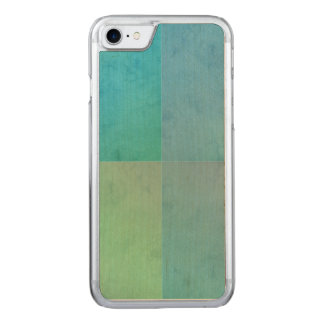 Teal Aqua Watercolor Geometric Pattern Modern Art Carved iPhone 8/7 Case