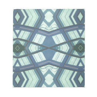 Teal Aquamarine Contemporary Linear Art Notepads