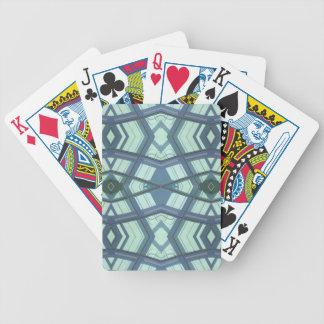 Teal Aquamarine Contemporary Linear Art Poker Deck