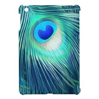 Teal Aquamarine Peacock Feather iPad Mini Cases