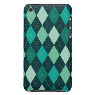 Teal argyle pattern barely there iPod cover
