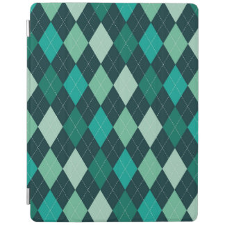 Teal argyle pattern iPad cover