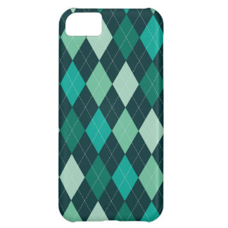 Teal argyle pattern iPhone 5C case