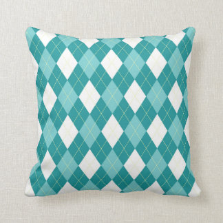 Teal Argyle pattern on beautiful cushion. Cushions
