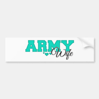 Teal Army Wife Bumper Sticker