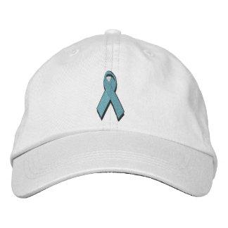 teal awareness ribbon embroidered cap