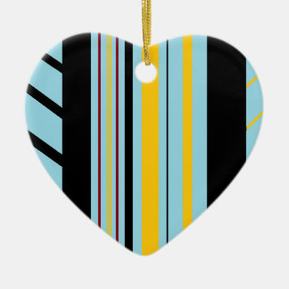 Teal Aztec Chic Ceramic Heart Decoration