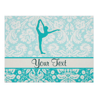 Teal Ballet Poster