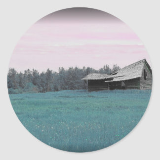 Teal Barn Classic Round Sticker