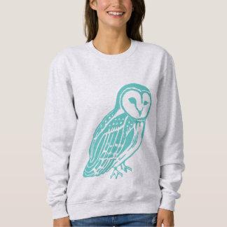 Teal Barn Owl Women's Sweatshirt
