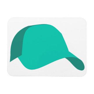Teal baseball cap rectangular photo magnet