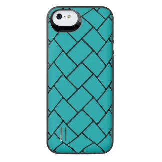 Teal Basket Weave 2 iPhone SE/5/5s Battery Case