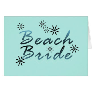 Teal Beach Bride Tshirts and Gifts Cards
