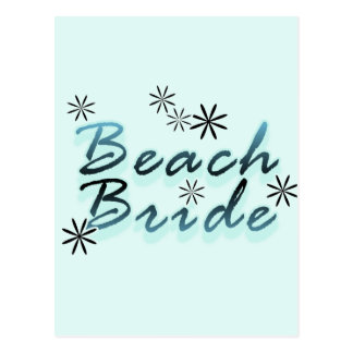 Teal Beach Bride Tshirts and Gifts Postcard