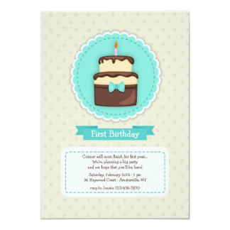 Teal Birthday Invitation