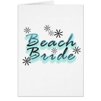 Teal/Black Beach Bride Cards