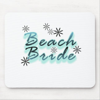 Teal/Black Beach Bride Mouse Pad