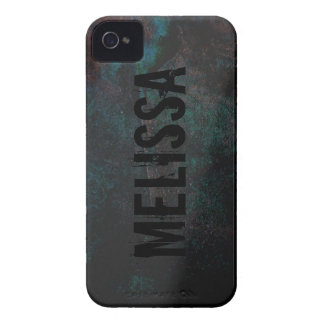 Teal Black Cool Grunge Rock Blackberry Phone Case iPhone 4 Case-Mate Case