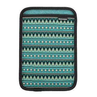 Teal Black Gold Aztec Stylish iPad Mini Sleeve