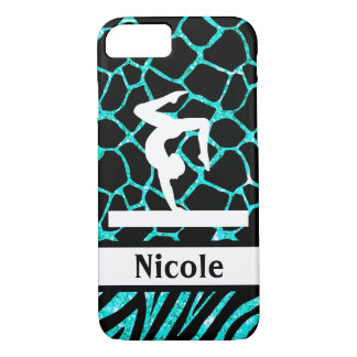Teal Black Gymnastics Cell Phone Case