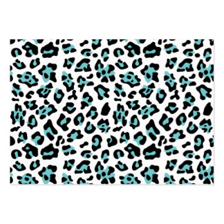 Teal Black Leopard Animal Print Pattern Business Card
