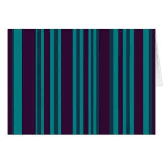 Teal blue and black stripes card