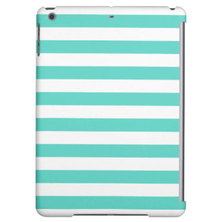 Teal Blue and White Stripe Pattern