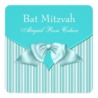 Teal Blue Bat Mitzvah Card