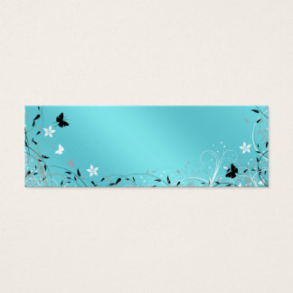 Teal Blue Butterfly Gift Tags Business Card
