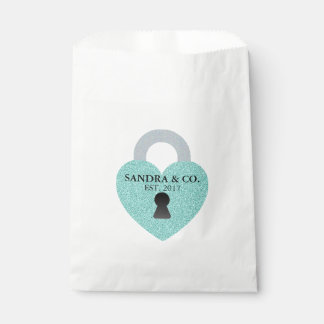 Teal Blue Celebration Party Favor Bags