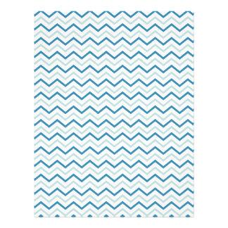 Teal Blue Chevron Zigzag Unique Personalized Flyer