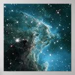 Teal Blue Colored Monkey Head Nebula Print