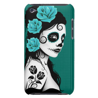 Teal Blue Day of the Dead Sugar Skull Girl Case-Mate iPod Touch Case