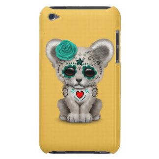 Teal Blue Day of the Dead Sugar Skull Lion Cub iPod Case-Mate Case