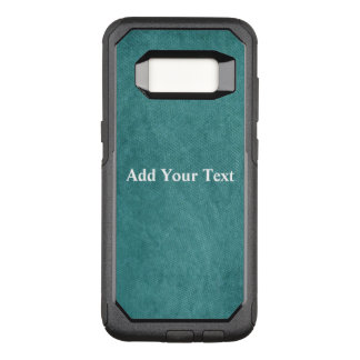 Teal Blue Digital Fabric Texture by Shirley Taylor OtterBox Commuter Samsung Galaxy S8 Case
