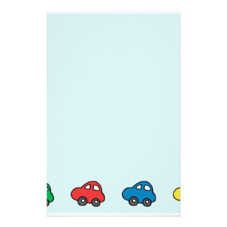 Teal Blue Fun Cars Stationery