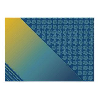 Teal Blue & Gold, hibiscus template Invitation Invitations