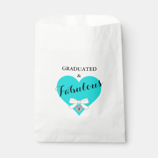 Teal Blue Graduation Celebration Party Favor Bags