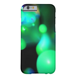 TEAL BLUE GREEN FRACTAL BUBBLES IN BLACK BARELY THERE iPhone 6 CASE