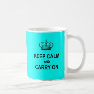 Keep Calm And Carry On Coffee Travel Mug