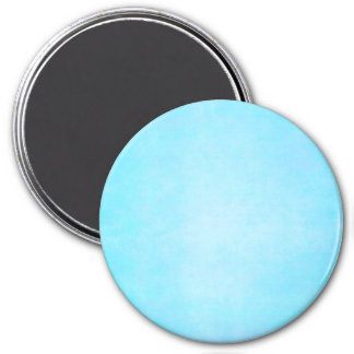 Teal Blue Light Watercolor Template Blank 7.5 Cm Round Magnet