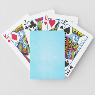 Teal Blue Light Watercolor Template Blank Bicycle Playing Cards