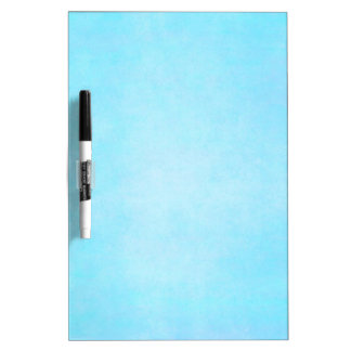 Teal Blue Light Watercolor Template Blank Dry-Erase Whiteboard