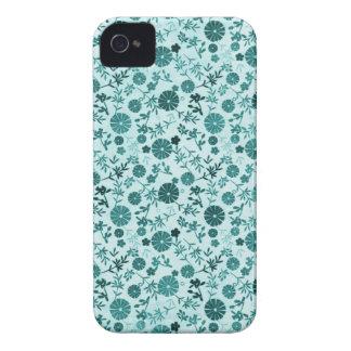 Teal Blue Mini Flower Case-Mate iPhone 4 Case