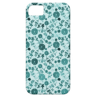 Teal Blue Mini Flowers iPhone 5 Cover