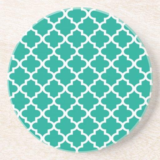 Teal blue Moroccan tile pattern geometric modern | Zazzle