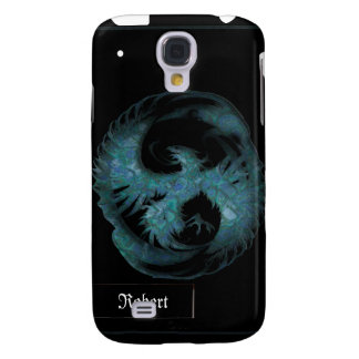 Teal Blue Mythical Phoenix iPhone3G Cover