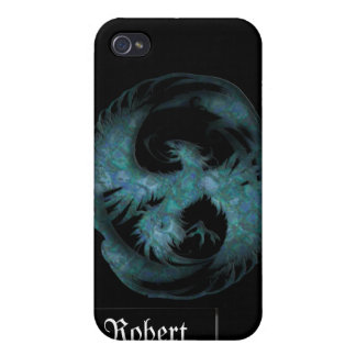 Teal Blue Mythical Phoenix iPhone4 Cover iPhone 4 Cases